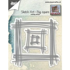 Joy!Crafts Snijstencils - Sketch Art - Vierkant groot