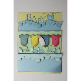 Joy!Crafts Snijstencils - Mery's Baby-tekstgolfrand