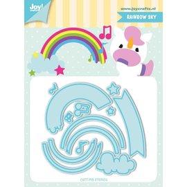 Joy!Crafts Snij-stencils - Tumble Friends - Rainbow-sky