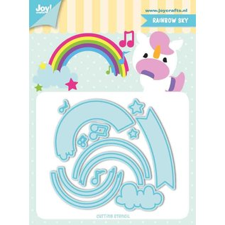 Joy!Crafts Snij-stencils - Tumble Friends - Rainbow-sky