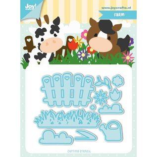 Joy!Crafts Snij-stencils - Tumble Friends - Farm