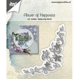 Joy!Crafts Snij-embos-debosstencil - Flower of Happiness
