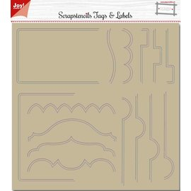 Joy!Crafts Polybesa Scrapstencil - Noor - Tab-borders