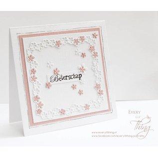 Joy!Crafts Snijstencils - Bloemenframe met label