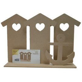 Joy!Crafts MDF Strandhuisjes