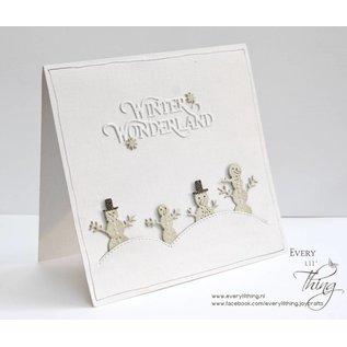 Joy!Crafts Snij-embosstencils (3st) Mery's Sneeuwman