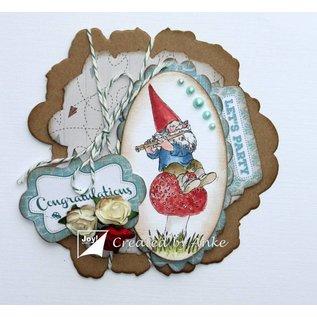 Joy!Crafts Clearstempel - Kabouter op paddenstoel