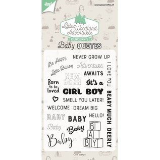 Joy!Crafts Clearstamps - Dendennis - Baby quotes