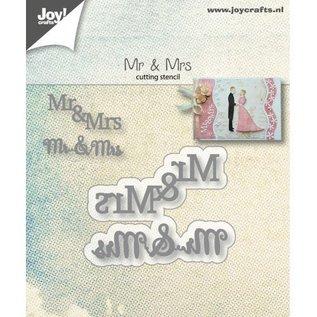 Joy!Crafts Snijstencils - Mr&Mrs