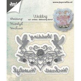 Joy!Crafts Snij-embos-debosstencil - Huwelijk