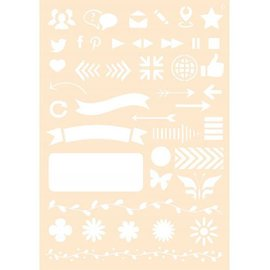 Joy!Crafts Polybesa stencil - Journaling 6
