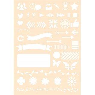 Joy!Crafts Polybesa stencil - Journaling 6