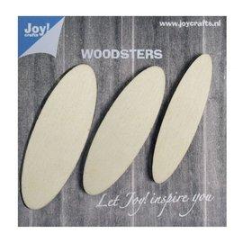 Joy!Crafts Woodsters - Houten ellipsen