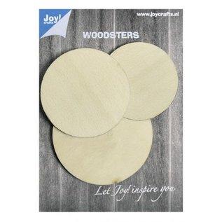 Joy!Crafts Woodsters - Houten cirkels