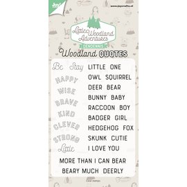 Joy!Crafts Clearstamp - Dendennis - LWA - Woodland quotes