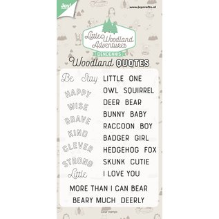 Joy!Crafts Clearstamp - Dendennis - LWA - Woodland quotes