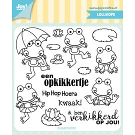 Joy!Crafts Clearstamp - Jocelijne - Frog (positive stimulus) Txt NL
