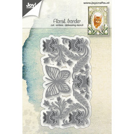 Joy!Crafts Cut-emboss-debossdie - Flowerborder with butterfly