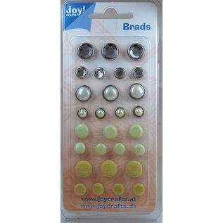 Joycrafts Brads creme/wit