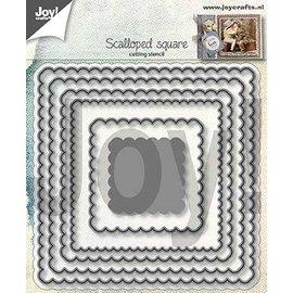 Joy!Crafts Snijstencil - Geschulpte vierkanten (6)