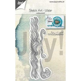 Joy!Crafts Snijstencil - Sketch Art - water