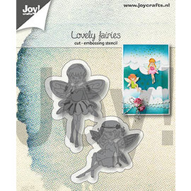Joy!Crafts Snij-embos-stencil- Lovely fairies