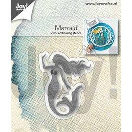 Joy!Crafts Snij-embos-stencil - Zeemeermin