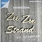 Joy!Crafts Woodsters - Houten woorden - Zee - Zon -Strand