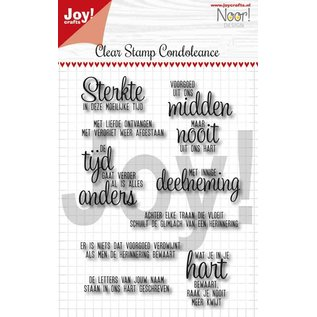 Joy!Crafts Clearstempel - Noor - Condoleance - Txt NL