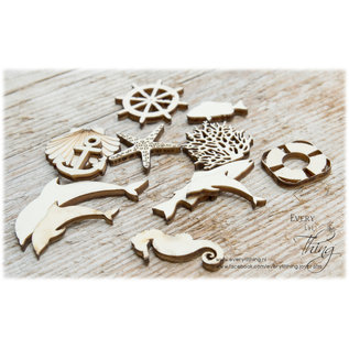Joy!Crafts Woodsters - Houten figuren - Zeepaard- koraal- groot vis