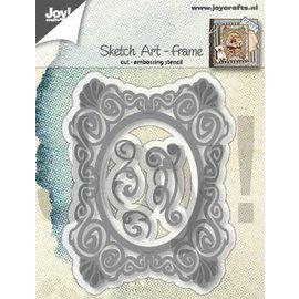 Joy!Crafts Snij-embosstencils - Sketch Art - Frame