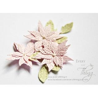 Snij-embosstencil - HH - Poinsettia