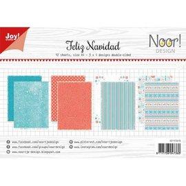 Joy!Crafts Papierset - Noor - Design Feliz Navidad