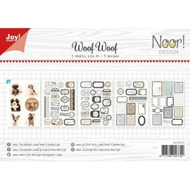 Joy!Crafts Labelvellen/knipvel - Noor  - WoofWoof