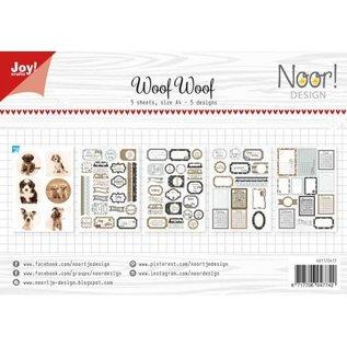 Joy!Crafts Labelvellen/knipvel - Noor  - WoofWoof