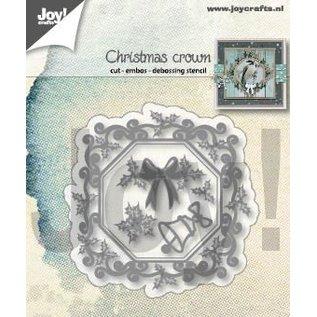 Joy!Crafts Snij-embos-debosstencil - Kerst kroon