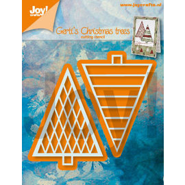 Joy!Crafts Snijstencils - Gerti's Kerstbomen 1