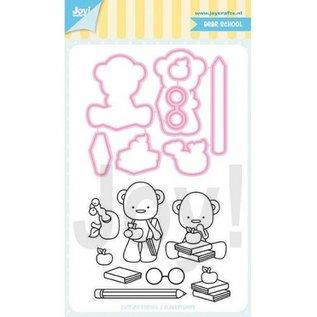 Joy!Crafts Stencil&Stempelset - Jocelijne- Schoolbeer