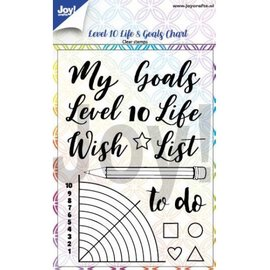 Joy!Crafts Clearstempel - Dayenne - Level 10 Life& Goals Chart