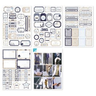 Joy!Crafts Labelvellen/knipvel - Noor - Gentlemen Style