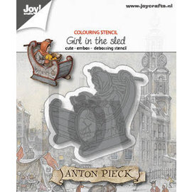 Joy!Crafts Cut-emboss-debossdie - Anton Pieck - Girl in sled