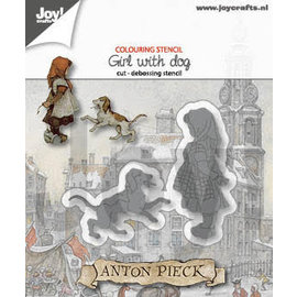 Joy!Crafts Cut-debossdie - Anton Pieck - Girl with a dog