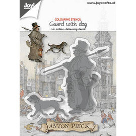 Joy!Crafts Cut-emboss-debossdie -  Anton Pieck - Warder with dog
