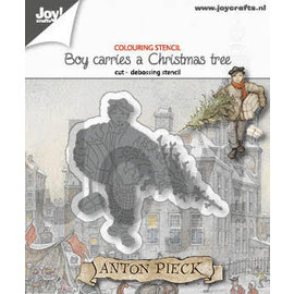 Joy!Crafts Cut-debossdie -  Anton Pieck - Boy with Christmastree