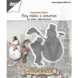 Joy!Crafts Cut-emboss-debossdie -  Anton Pieck - Boy with snowmen