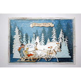 Joy!Crafts Cut-emboss-debossdie -  Anton Pieck - Horse with sled
