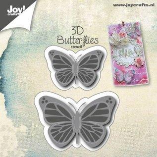 Joy!Crafts 3D Stencil - 2st. Vlinders