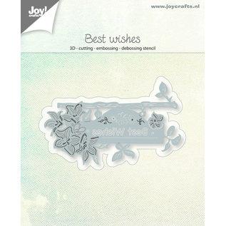 Joy!Crafts 3D-Snij-embos-debosstencil - Uithangbord Best Wishes