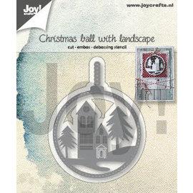 Joy!Crafts Snij-embos-debosstencil - Kerstbal met landschap
