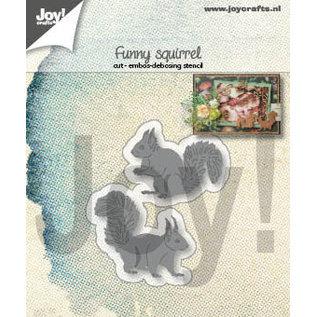 Joy!Crafts Snij-embosstencils - Leuke eekhoorns